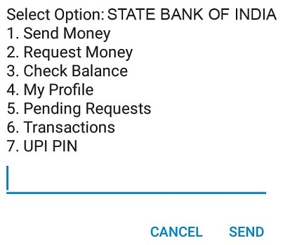 State Bank of India Balance Check USSD