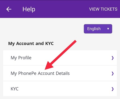 PhonePe Account Details